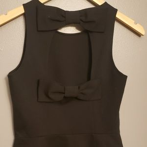 Kate spade new with tags black peplum top size 2